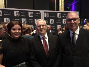 Markku ja Olli Saijan onniteltavina.